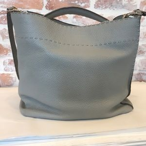Fendi Gray Selleria Anna 2-way Hobo
